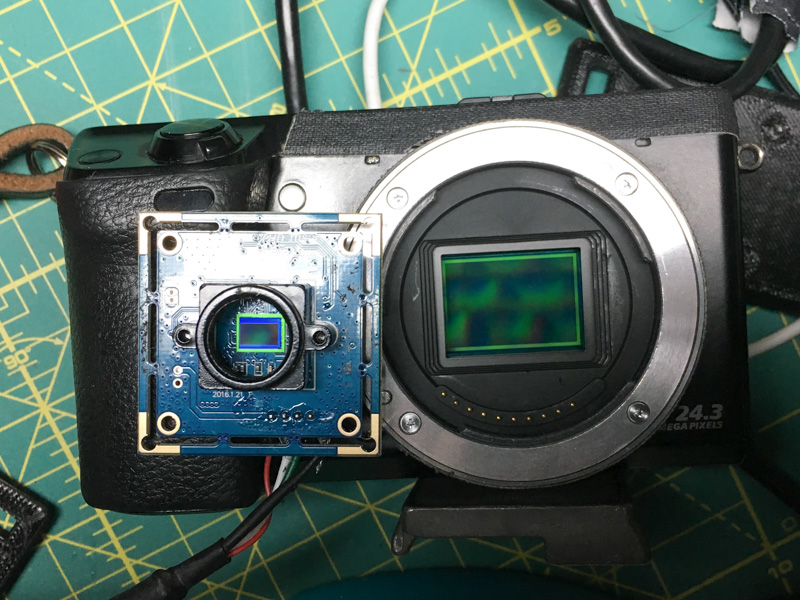 Difference in sensor size with an APS-C NEX 7