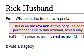 No disagreement, but that this comment was the entirety of [Rick Husband's](https://en.wikipedia.org/wiki/Rick_Husband) initial page is a mighty fine bit of Wikipedia