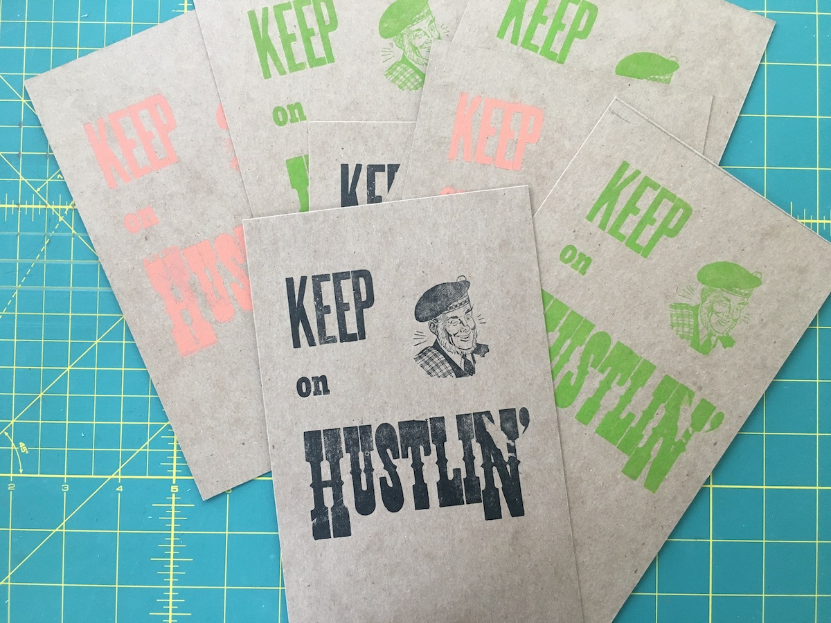 Of course I also made some letterpress prints for the project.