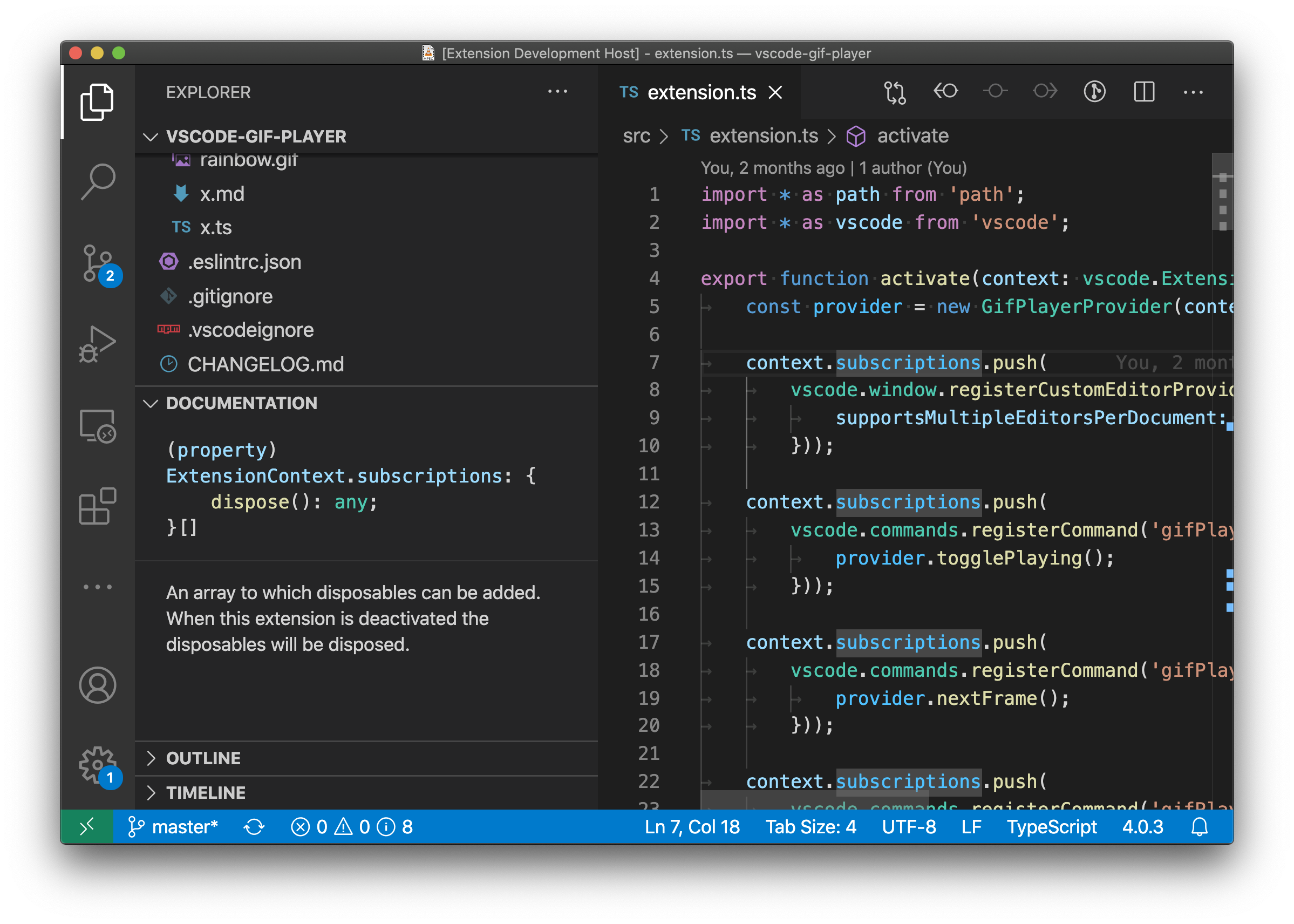 VS Code Docs View